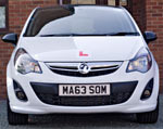 We use a smart Vauxhall Corsa to teach you to drive